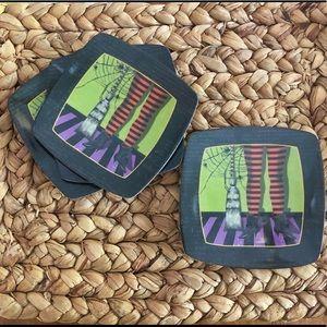 Halloween melamine plates SET of 11 NWT